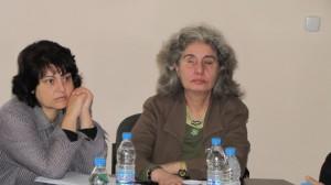 """Ръководителят на Сдружение """"За жени с увредено зрение- Ти Можеш"""" и техническия сътрудник Женя Димитрова"""